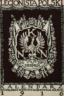 Legionista Polski : kalendarz Naczelnego Komitetu Narodowego na rok 1916