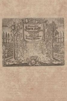 Musicalische Kürbs-Hütte : Welche vns erinnert Menschlicher Hinfälligkeit : geschrieben vnd Jn 3. Stimmen gesetzt von Heinrich Alberten