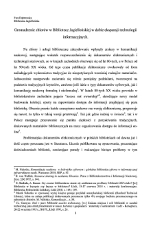 Gromadzenie zbiorów w Bibliotece Jagiellońskiej w dobie ekspansji technologii informacyjnych [artykuł]