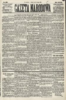 Gazeta Narodowa. 1889, nr170