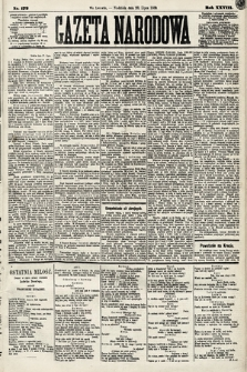 Gazeta Narodowa. 1889, nr172