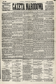 Gazeta Narodowa. 1889, nr175