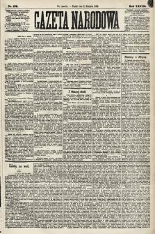 Gazeta Narodowa. 1889, nr176