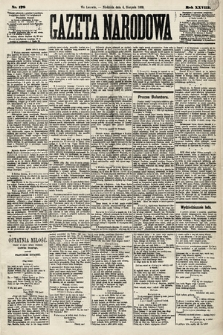 Gazeta Narodowa. 1889, nr178