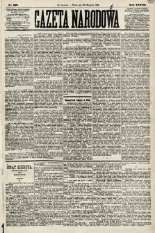 Gazeta Narodowa. 1889, nr197