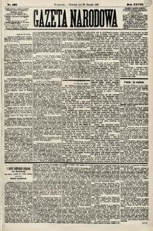 Gazeta Narodowa. 1889, nr198