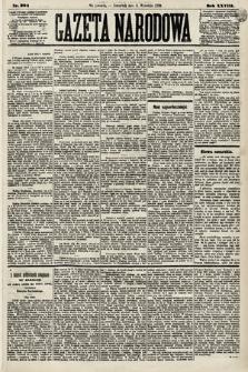 Gazeta Narodowa. 1889, nr204