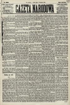 Gazeta Narodowa. 1889, nr206