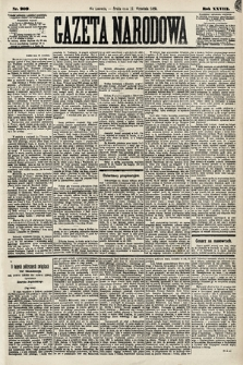 Gazeta Narodowa. 1889, nr209
