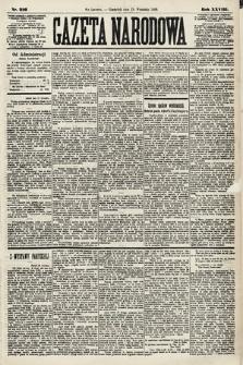 Gazeta Narodowa. 1889, nr216