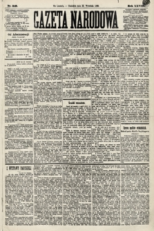 Gazeta Narodowa. 1889, nr219