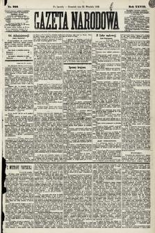 Gazeta Narodowa. 1889, nr222