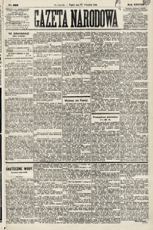 Gazeta Narodowa. 1889, nr223