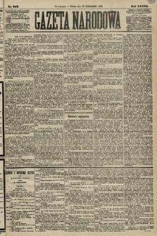 Gazeta Narodowa. 1889, nr242