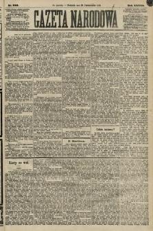 Gazeta Narodowa. 1889, nr243