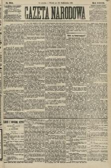 Gazeta Narodowa. 1889, nr244