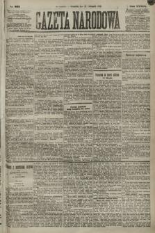 Gazeta Narodowa. 1889, nr263