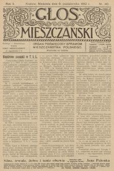 Glos Mieszczański : organ poświęcony sprawom mieszczaństwa polskiego. R. 2, 1912, nr 40