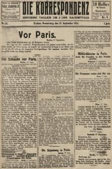 Die Korrespondenz. 1914, nr37