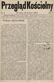 Przegląd Kościelny. 1883, nr4