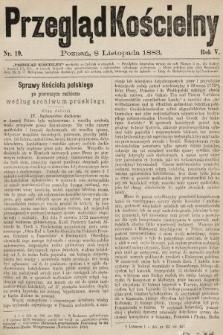 Przegląd Kościelny. 1883, nr19