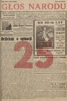 Głos Narodu. 1928, nr 51 [skonfiskowany]