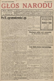 Głos Narodu. 1928, nr 264 [skonfiskowany]