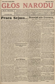 Głos Narodu. 1929, nr 18 [skonfiskowany]