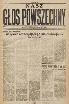 Nasz Głos Powszechny. R.1. 1936, nr 1