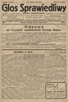 Głos Sprawiedliwy : pismo bezpartyjne. R. 1. 1928, nr 1