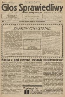 Głos Sprawiedliwy : pismo bezpartyjne. R. 1. 1928, nr 2