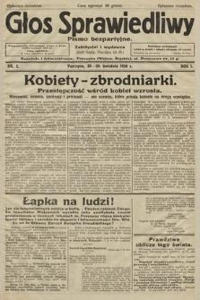 Głos Sprawiedliwy : pismo bezpartyjne. R. 1. 1928. nr 3