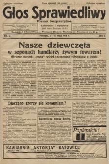 Głos Sprawiedliwy : pismo bezpartyjne. R. 1. 1928, nr 4