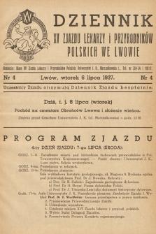 Dziennik XV Zjazdu Lekarzy i Przyrodników Polskich. 1937, nr 4
