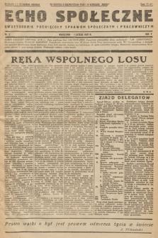 Echo Społeczne : dwutygodnik poświęcony sprawom społecznym i pracowniczym. R. 5. 1937, nr 3