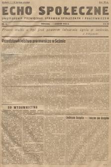 Echo Społeczne : miesięcznik poświęcony sprawom społecznym i pracowniczym. R. 3. 1935, nr 12