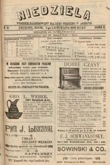 Niedziela : tygodnik ilustrowany dla ludu polskiego w Ameryce. 1893, nr45