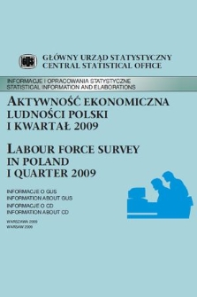 Labour Force Survey In Poland Ii Quarter 2009 Jagiellonian