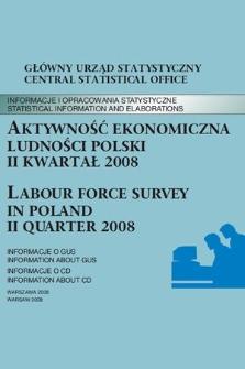 Aktywnosc Ekonomiczna Ludnosci Polski Ii Kwartal 2008