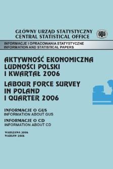 Aktywnosc Ekonomiczna Ludnosci Polski I Kwartal 2006 Jagiellonian
