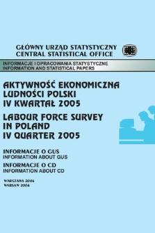 Aktywnosc Ekonomiczna Ludnosci Polski Iv Kwartal 2005