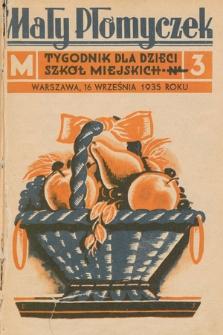 Mały Płomyczek : tygodnik dla dzieci szkół miejskich. 1935-1936, nr3