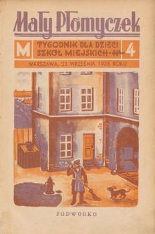 Mały Płomyczek : tygodnik dla dzieci szkół miejskich. 1935-1936, nr4