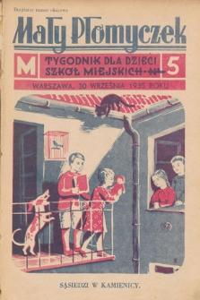Mały Płomyczek : tygodnik dla dzieci szkół miejskich. 1935-1936, nr5