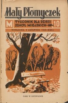 Mały Płomyczek : tygodnik dla dzieci szkół miejskich. 1935-1936, nr10