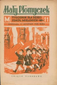 Mały Płomyczek : tygodnik dla dzieci szkół miejskich. 1935-1936, nr11