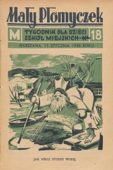 Mały Płomyczek : tygodnik dla dzieci szkół miejskich. 1935-1936, nr18