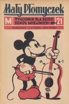 Mały Płomyczek : tygodnik dla dzieci szkół miejskich. 1935-1936, nr21