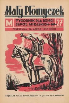 Mały Płomyczek : tygodnik dla dzieci szkół miejskich. 1935-1936, nr27
