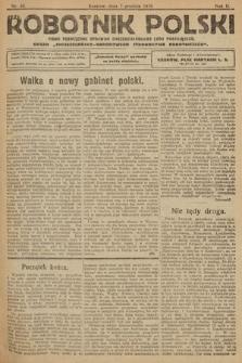 Robotnik Polski : pismo poświęcone sprawom chrześcijańskiego ludu pracującego. R. 2, 1919, nr 46